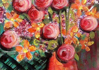 Orange and peach bouquet